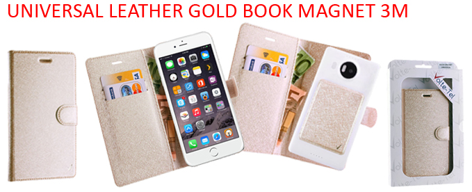 UNIVERSAL LEATHER GOLD BOOK MAGNET 3M