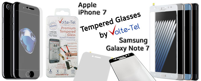 IPHONE 7 & NOTE 7 TEMPERED GLASSES
