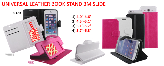 UNIVERSAL LEATHER BOOK STAND 3M SLIDE CASES