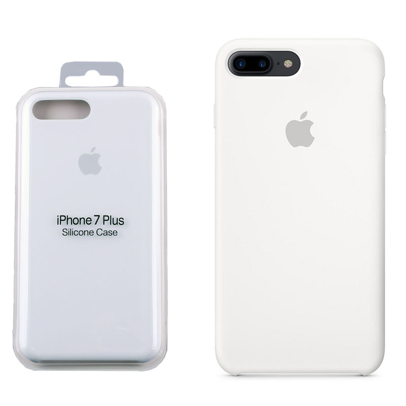 Case Apple Iphone 8 7 Plus Mmqt2fe A Silicone Cover White Pac Or