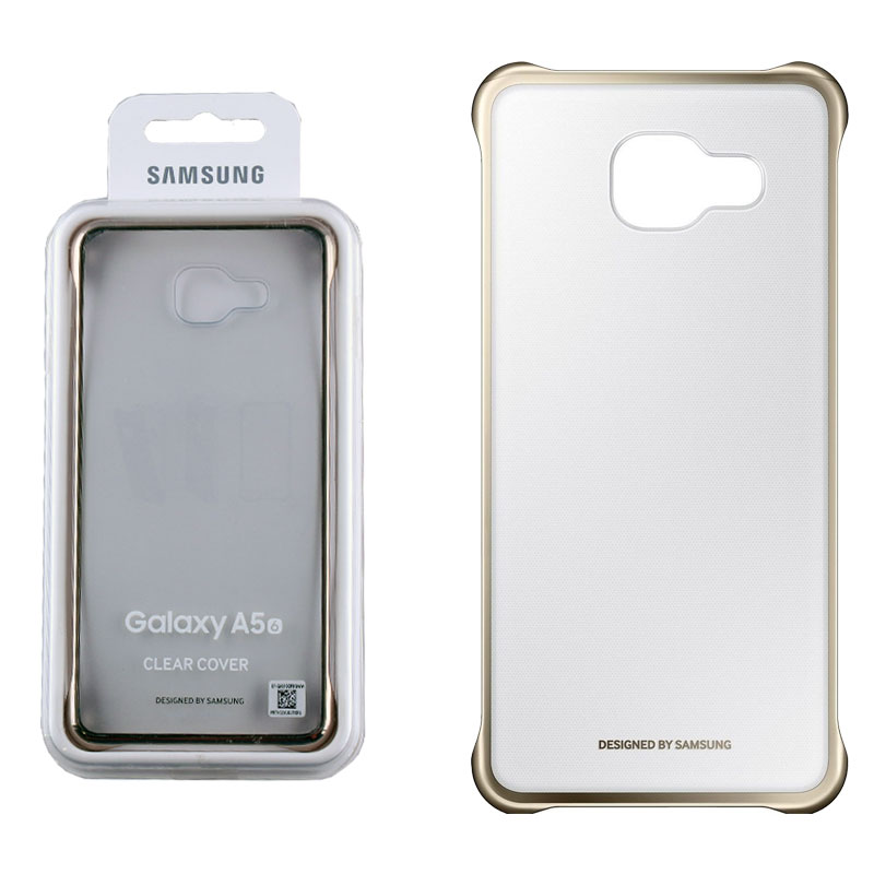 new concept e3e03 ae85a CASE SAMSUNG GALAXY A5 2016 A510 CLEAR COVER GOLD PACKING OR