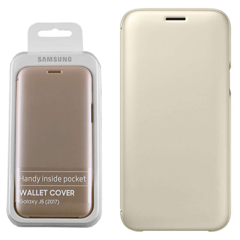 hot sale online c862c 5be8d CASE SAMSUNG GALAXY J5 2017 J530 FLIP COVER GOLD PACKING OR