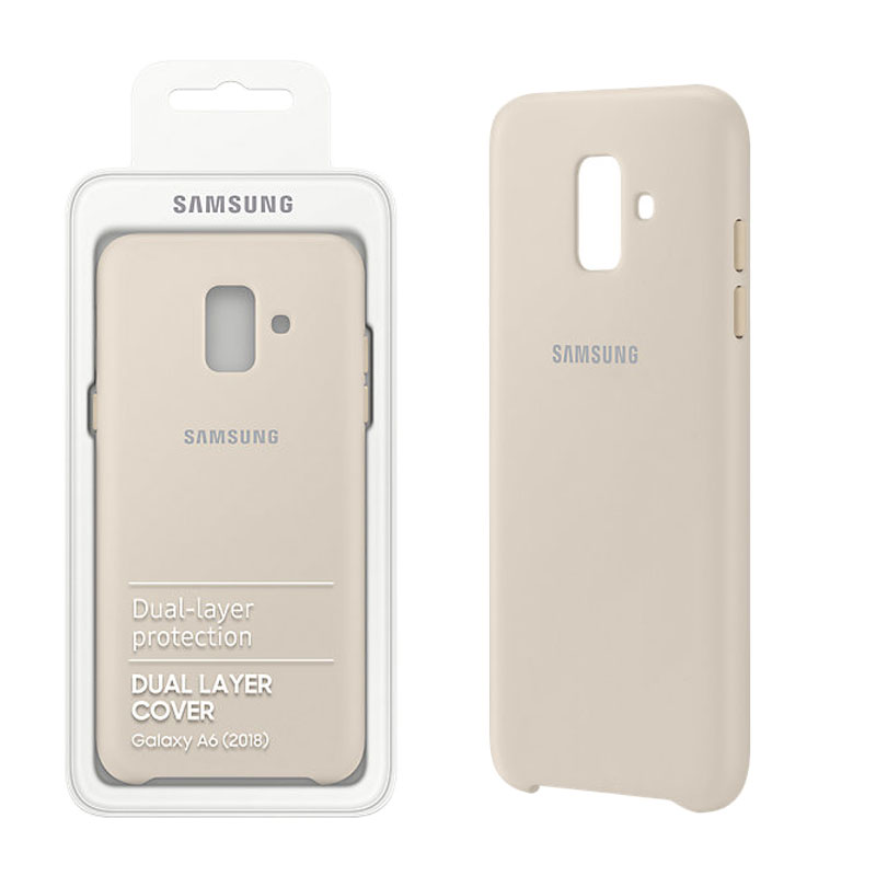 wholesale dealer f4060 8a50a CASE SAMSUNG GALAXY A6 2018 A600 DUAL LAYER COVER GOLD PACK OR