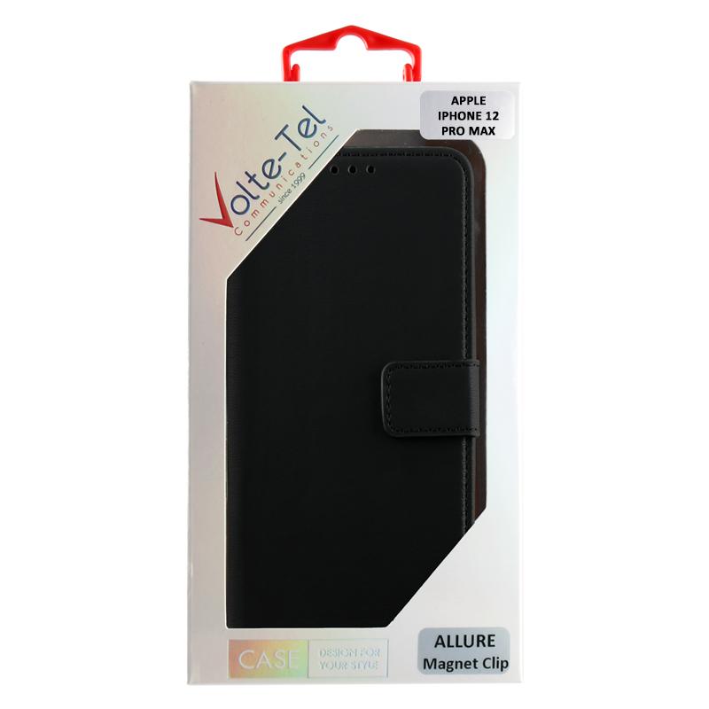 VOLTE-TEL ΘΗΚΗ IPHONE 12 PRO MAX 6.7″ ALLURE MAGNET BOOK STAND CLIP BLACK